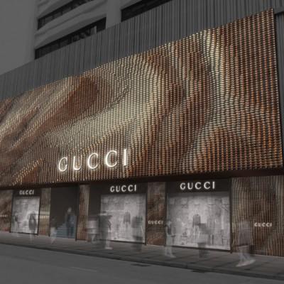 GUCCI Facade Design (Invited Competition) 2016